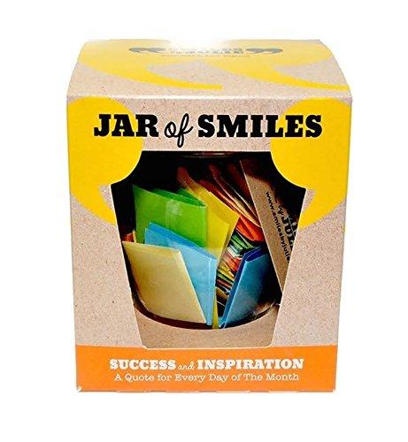 """Smiles by Julie - Barattolo del successo e dell'ispirazione, con un mese di pensieri e parole motivazionali in un barattolo ermetico di tipo Kilner da 125 ml 31 bigliettini multicolore con citazioni per ispirare ogni giorno voi e la vostra famiglia. Il regalo perfetto per gli amici, la famiglia e le matricole dei corsi di studio. """"Sii la ragione per cui qualcuno oggi sorride""""."""