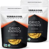 Terrasoul Superfoods Organic Dried Mango Slices, 2 Lbs (2 Pack) - Naturally Sweet & Tart | No-Added Sugar | Healthy Prebiotic