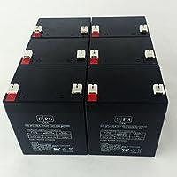 12V 5Ah Minutemanエンタープライズe1100i UPS交換用バッテリーSPSブランド(6パック)
