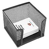 Betrothales Sticky Note Box Griglia In Chic Metallo Porta Memo Porta Carte Organizer Per Ufficio Home Scuole Accessori Da Scrivania 3.1X4.1 Pollici Nero