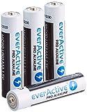 everActive AAA Batterien 10er Pack, Pro Alkaline, Micro LR03 R03 1.5V, höchster Leistung, 10 Jahre Haltbarkeit, 4 Stück
