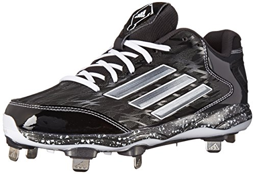 adidas Performance Men's PowerAlley 2 Baseball Cleat, Black/Carbon/Carbon, 11.5 M US