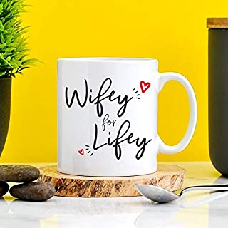 8558e6d9 Wifey for Lifey Mug - Wife Gifts, Lifey Wifey, Housewife Present, Gift For