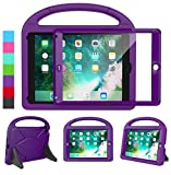 LEDNICEKER Kids Case for iPad 9.7 2018/2017 & iPad Air 2 - Built-in Screen Protector Shockproof Handle Friendly Foldable Stand Kids Case for iPad 9.7 2017/2018 (ipad 5&6) & iPad Air 2 2014 - Purple