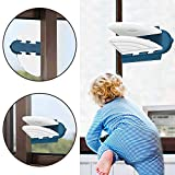 Image of (4 Pack) SYOSIN Sliding Door Lock for Child Safety, Baby Proof Sliding Window Lock with Strong Adhesive Tape for Patio, Closet, Shower Sliding Door, Shutter and More