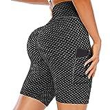 maril high waist fuori tasca pantaloni yoga pantaloni allenamento pantaloncini per le donne a vita alta biker yoga in esecuzione atletica corta con tasche proficient