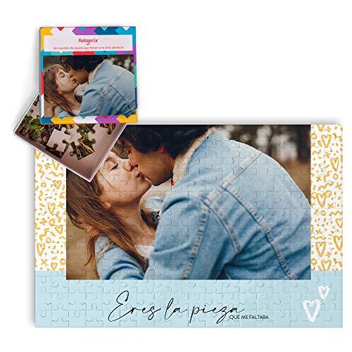 Puzzle Enamorados Personalizado con Foto y Texto | Regalo Parejas y Novios | Día de San Valentín (Te Quiero)