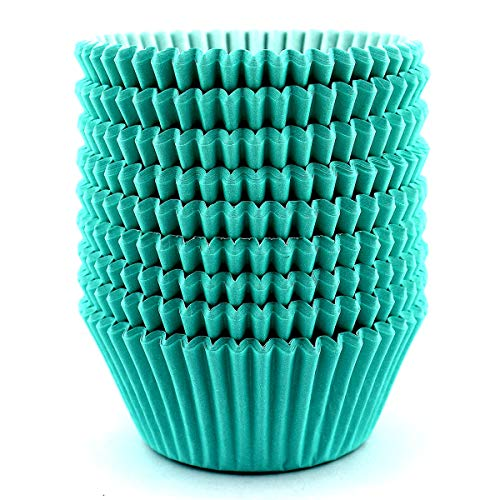 Eoonfirst Standard Size Baking Cups 200 Pcs (Mint Green)