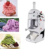 Commercial Electric Ice Shaver Snow Cone Maker Machine Premium Shaved Ice Machine for Milk Tea Shop,...