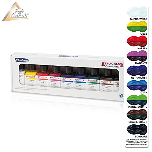 Airbrush Schmincke Farben 811080, für Airbrush Kompressor, Airbrush Pistole, Aero Color Professional