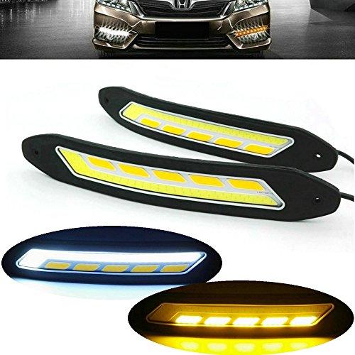 Heinmo Lot de 2 phares LED COB anti-brouillard pour voiture avec clignotants étanches
