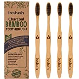 Biodegradable Eco-Friendly Natural Bamboo Charcoal Toothbrushes - Pack of 4