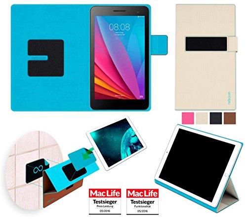 reboon Hülle für Huawei Honor T1 7.0 Tasche Cover Case Bumper | in Beige | Testsieger