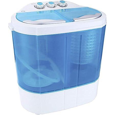 Display4top Portable Charge supérieure 3.6kg machine à laver - machines à laver - Prise standard européenne (Bleu)