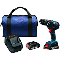 Bosch 18V 2.0 Ah Cordless Lithium-Ion 1/2 in. Hammer Drill Driver Kit