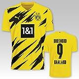 PUMA BVB Heimtrikot Erwachsen Saison 2020/21, Größe:S, Spielername:9 Haaland