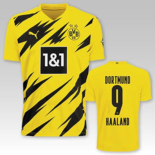 PUMA BVB Heimtrikot Erwachsen Saison 2020/21, Größe:L, Spielername:9 Haaland