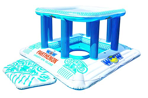 WOW World of Watersports Parthenon Canopy Spa Island, 1 2 3 4 5 6 7 or 8 Person Inflatable Island, 20-2000
