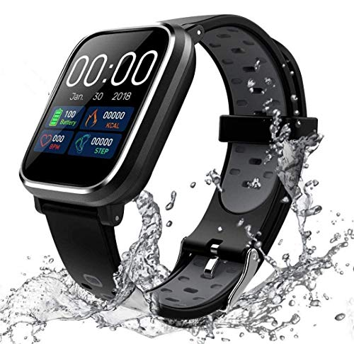 Fitness Tracker Cardiofrequenzimetro, Tracker attività impermeabile IP68 Smart Watch e contapassi Tracker del sonno con 2 cinturini intercambiabili per uomo e donna A01