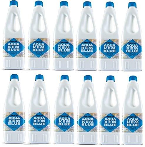 Aqua KEM - Bouteille de 2 litres dégivrante pour réservoir de camping-car, toilettes, chimique, ACque, noire, marque Thetford - Offre pour 12 bouteilles de 2 litres