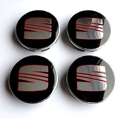 Tapas centrales de Rueda SeatLogo para llantas 4x 63mm tapacubos 1P06601165 Ibiza Leon