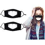 Transparent Designer Face Mask Clear Window Black Reusable Adjustable Plastic Washable See Thru Through Visible Mouth Men Women Adult Guard Deaf Deaf Mute Dumb Hard Hearing Madks Mascarillas Tapabocas