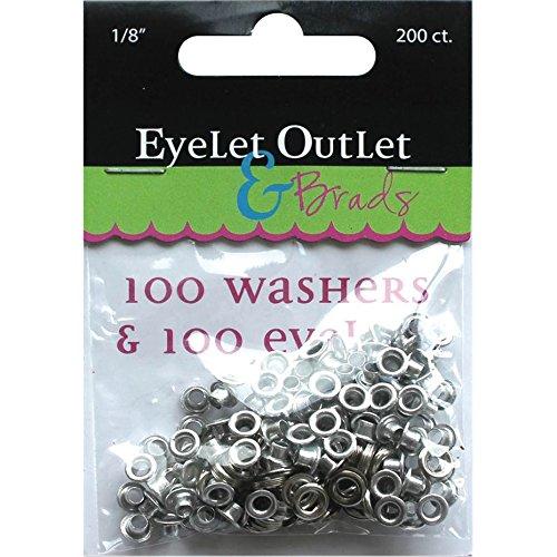 EYELET OUTLET 100-Eyelets & Washers, 1/8'