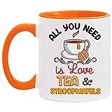 N\A Todo lo Que Necesitas es Amor, té y Tazas Decorativas de Stroopwafels.