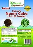 Nature's Neem Cake Powder (NPK% - 6-1-2%) 4-Pound Bag