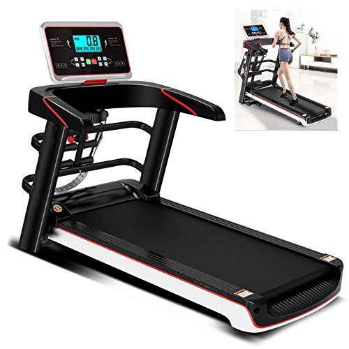 Cintas para correr motorizadas plegables multifuncionales, motor 2.0HP, máquina de caminar de tracción en ejecución inteligente, gimnasio Portátil Pequeño Ultra silencioso Equipo de fitness Jialele