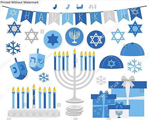 KwikMedia Poster of Happy Hanukkah (Silver)