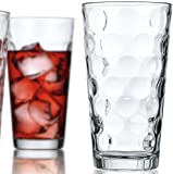 Attractive Bubble Design Highball Glasses Clear Heavy Base Tall Bar Glass Bubble Design - Set Of 10 Drinking Glasses for Water, Juice, Beer, Wine, and Cocktails, 17 ounce