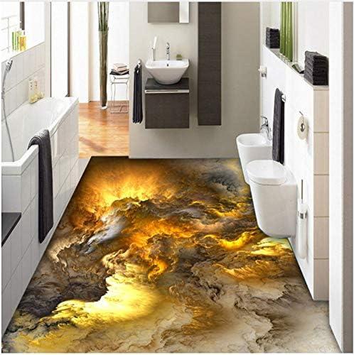 PVC 3D Flooring Wallpaper Modern Personality Abstract Clouds 3D Floor Tiles Bedroom Bathroom PVC Waterproof 3 D Mural 120X80Cm, Ayzr - - Amazon.com