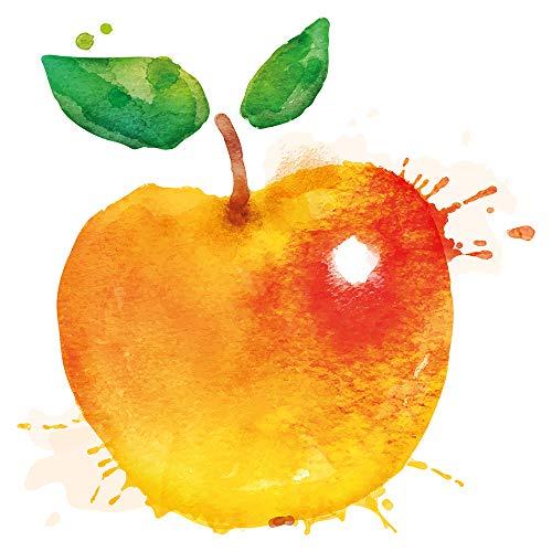 Wandtattoo Küche Obst Gemüse Wandtattoo Apfel Motiv mit intensiven Farben im Aq