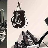 Boxeo Deportes Guante de boxeador Gratis Sparring Etiqueta de la pared Vinilo Calcomanía para coche Dormitorio de niño Sala de entrenamiento Culturismo GIMNASIO Fitness Club Decoración para el ho