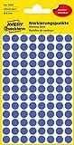 AVERY Zweckform 3591 selbstklebende Markierungspunkte (Ø 8 mm, 416 ablösbare Klebepunkte auf 4 Bogen, runde Aufkleber für Kalender, Planer und zum Basteln, Papier, matt) blau