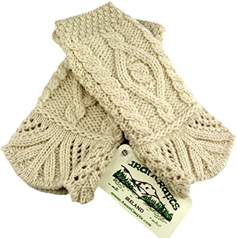 100% Irish Merino Wool Stylish Aran Mittens  Fast Delivery From Ireland