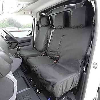 Heavy Duty Black Waterproof Single Seat Cover PEUGEOT PARTNER HDI