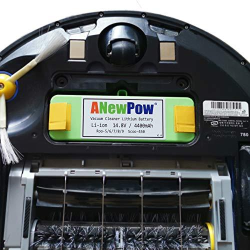 batería de litio (Li-Ion) de 4400mAh para iRobot Roomba toda 500 ...