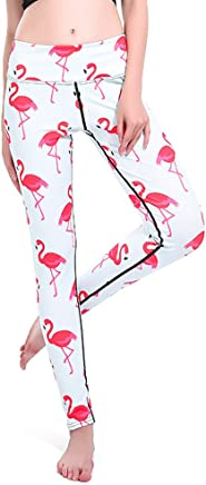 91b11039fd2dc mwbay Womens Red Crowned Crane Yoga Pants Knitted Leggings for Sport  Fitness Workout