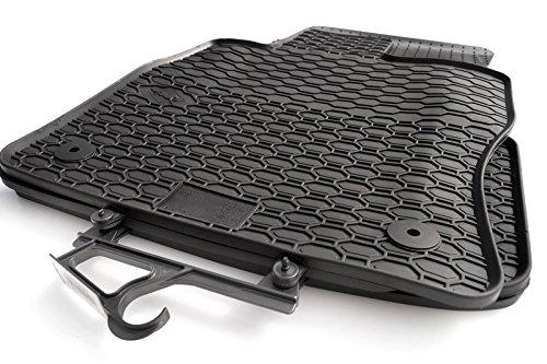 Gummimatten passend für Golf 7 Premium Qualität Gummifußmatten 4-teilig schwarz