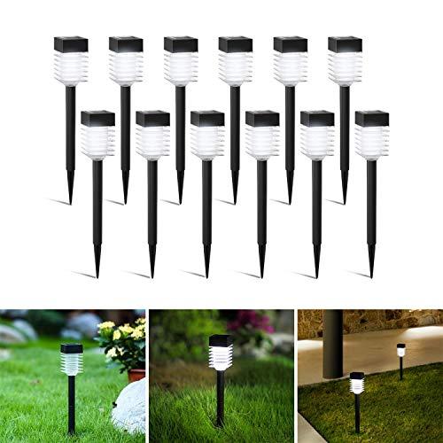 Gartenbeleuchtung Solar Led Gartenleuchten Mit Erdspiess Wasserdicht Solarlampe Solarlichter Für Außen Garten Retro Vintage 12 Stücke