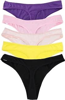 Women Cotton Thongs Fashion Intimates Briefs Tangas Ladies Panties Multi Packs