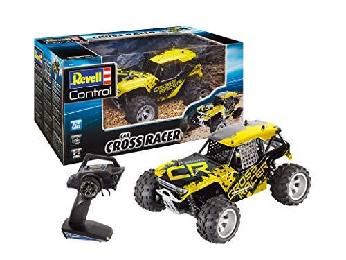 Revell Control 24467 RC Car Buggy Cross Racer, 2,4GHz, LiPo-Akku, bis zu 35 km/h, 4WD Allrad ferngesteuertes Auto, gelb/schwarz, 25 cm