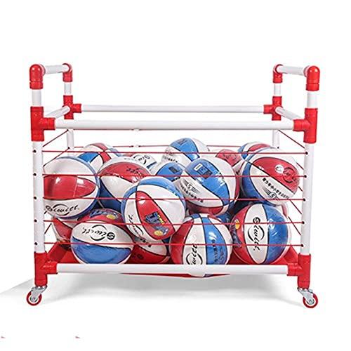 Slscyx Kindergarten Colocado Bola De Bola Carro De Fútbol Móvil Bola Bola Bola Bola Bola De Baloncesto Baloncesto Bastidor De Almacenamiento