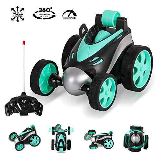 m zimoon Control Remoto Coche RC Stunt Car 360 ° Rotación Rolling Rotating Racing Vehicle Toy niños Niñas Interior al Aire Libre