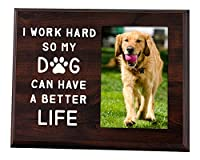 Elegant Signs Dog Dad or Dog Mom Picture Frame 4x6 - Dog Lover Gifts for Women or Men - I Work Hard So My Dog Can Have a Better Life Desk Decor [並行輸入品]