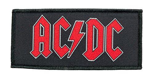 AC/DC - Logo carré rouge [Patch / écusson tissé] [SP001]