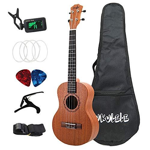 Dasing - Ukelele tenore sapele, chitarra acustica Hawaii, 26 pollici, kit completo per ukulele per bambini principianti