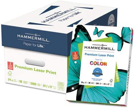 Premium Laser Paper 3-Hole Punch White Bright 98 LTR 24lb Special price for a limited time San Francisco Mall